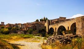 View of antique city. Besalu Stock Photos