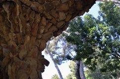 Detailed view closeup of Antoni Gaudi s Park Guell, Barcelona, Spain. View of Antoni Gaudi s Park Guell, Barcelona, Spain. This is a very unique detailed view royalty free stock photo