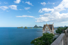 View of Ao Prachuap, Landmark of Prachuap Khiri Khan Province , Royalty Free Stock Photos