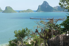 View of Ao Prachuap, Landmark of Prachuap Khiri Khan Province , Royalty Free Stock Images