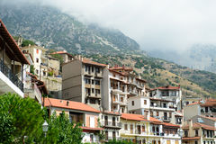 View on apartments in Arachova, Greece. Arachova is a local skiing resort which situated near ancient town of Delphi Royalty Free Stock Image