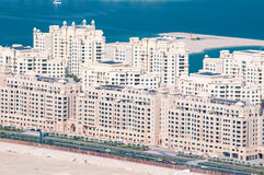 View on apartments house on artificial island Palm Royalty Free Stock Image
