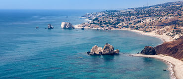 View of Aphrodite's rock, Cyprus Royalty Free Stock Image
