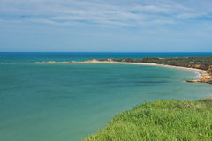 View of Apollo Bay, Great Ocean Road. Royalty Free Stock Photos