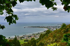 View of Apollo Bay from Marriner`s Lookout in Victoria Stock Photography