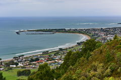 View of Apollo Bay from Marriner`s Lookout in Victoria Royalty Free Stock Photo