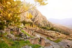 The view on Apollo temple Stock Photos