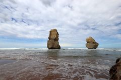 A view on 12 Apostles near Port Campbell ,Great Ocean Road in Victoria, Australia Stock Photography