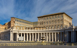 View of Apostolic Palace from Saint Peter's Square Royalty Free Stock Images
