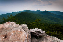 View of the Appalachian Mountains from Duncan Knob, George Washi Stock Images