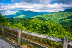 View of the Appalachians from Bald Mountain Ridge scenic overloo Royalty Free Stock Images