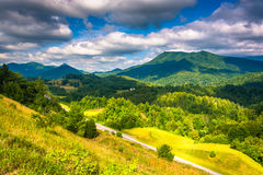 View of the Appalachians from Bald Mountain Ridge scenic overloo Royalty Free Stock Photo