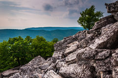 View of the Appalachians from the boulder-covered slopes of Dunc Stock Photos