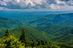 View of the Appalachians from Devils Courthouse, near the Blue R stock images