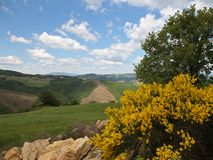 View of the Appenins mountains, Umbria, Italy Royalty Free Stock Photography