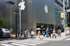 View of the Apple Store in Ginza, Tokyo Stock Photos