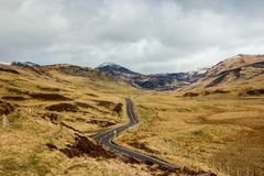 A83 Old Military Road approaching Glenshee stock photography