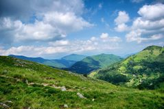 Hills of Apuan alps. View from Apuan alps, italian mountains Royalty Free Stock Image