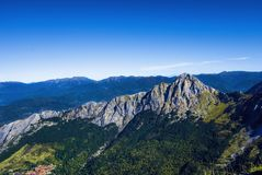 Apuan alps Mt. Pizzo d`Uccello. View from Apuan alps, during my trekking in Mt. Pania italian mountains Royalty Free Stock Image
