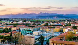 View of the Apuan Alps from the Pisa Tower Stock Photography
