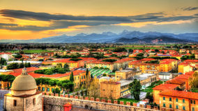 View of the Apuan Alps from the Pisa Tower Stock Photos