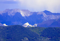 View of apuan alps. In summer time  , italy Royalty Free Stock Photo