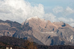 View of apuan alps Stock Photography