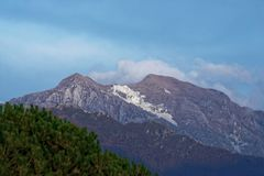 View of apuan alps. In summer time  , italy Royalty Free Stock Photography