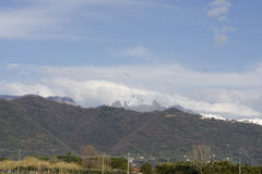 View of apuan alps Royalty Free Stock Photography