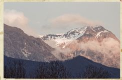 View of apuan alps. In winter time  , italy Stock Photo