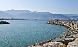 View on Aqaba city from a dam of Eilat Royalty Free Stock Photos