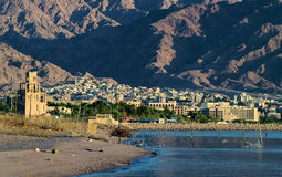 View on Aqaba city from Eilat Royalty Free Stock Photos