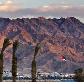 View on Aqaba from Eilat, Israel Stock Image