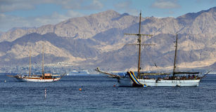 View on the Aqaba gulf (Red Sea) near Eilat Stock Image