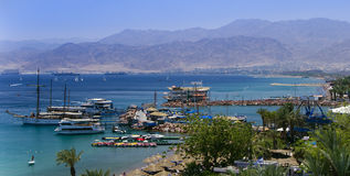 View on Aqaba gulf, Eilat, Israel Royalty Free Stock Images