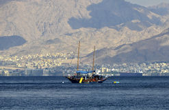 View on Aqaba gulf from Eilat, Israel Stock Photography