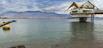 View at the Aqaba Gulf from Eilat, Israel Royalty Free Stock Images