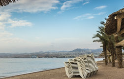 View at the Aqaba Gulf from Eilat, Israel Royalty Free Stock Photos