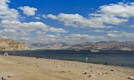 View on Aqaba gulf near coral reefs, Eilat, Israel Stock Photos