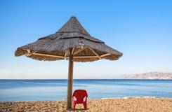 View on the Aqaba gulf near Eilat, Israel Royalty Free Stock Photo
