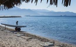 View on the Aqaba gulf near Eilat, Israel Stock Image
