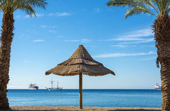 View on the Aqaba gulf near Eilat, Israel Royalty Free Stock Photo