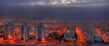 View on Aqaba gulf before sunrise, Israel Stock Photos