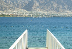 View on Aqaba and Red Sea from Eilat Royalty Free Stock Photos