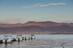 View on Aqaba and the Red sea Royalty Free Stock Photos