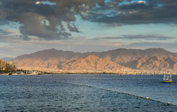 View on Aqaba and the Red sea Royalty Free Stock Photography