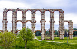 View of Aqueduct of the Miracles in Merida, Spain. View of Aqueduct of the Miracles in Merida, Extremadura Spain Stock Photos
