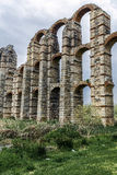 View of Aqueduct of the Miracles in Merida, Spain. View of Aqueduct of the Miracles in Merida, Extremadura Spain Royalty Free Stock Photo