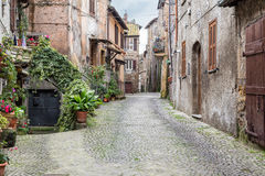 View of Aquila Ponzio street Stock Photo