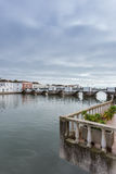 View of the Arab Bridge in Tavira. Portugal. Stock Photography